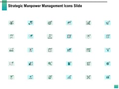 Strategic Manpower Management Icons Slide Portrait PDF