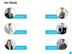 Strategic Marketing Approach Our Clients Ppt File Slides PDF