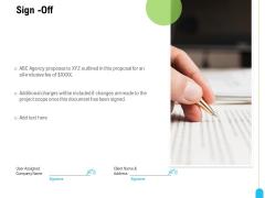 Strategic Marketing Approach Sign Off Ppt Portfolio Slides PDF