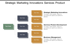 Strategic Marketing Innovations Services Product Development Business Management Ppt PowerPoint Presentation Slides Elements