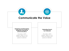 Strategic Marketing Plan Communicate The Value Ppt PowerPoint Presentation Professional Slide Portrait PDF