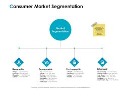 Strategic Marketing Plan Consumer Market Segmentation Ppt PowerPoint Presentation Ideas Influencers PDF