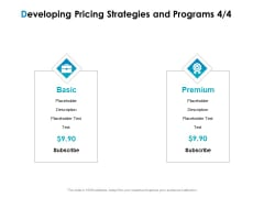 Strategic Marketing Plan Developing Pricing Strategies And Programs Basic Ppt Styles Introduction PDF