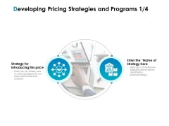 Strategic Marketing Plan Developing Pricing Strategies And Programs Ppt Show Files PDF
