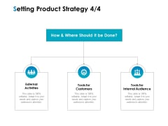Strategic Marketing Plan Setting Product Strategy Tools Ppt PowerPoint Presentation Icon Graphics Example PDF