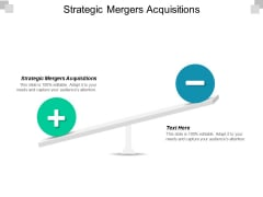 Strategic Mergers Acquisitions Ppt PowerPoint Presentation Layouts Infographics Cpb