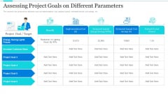 Strategic Methods Of Stakeholder Prioritization Assessing Project Goals On Different Parameters Designs PDF