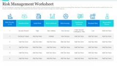 Strategic Methods Of Stakeholder Prioritization Risk Management Worksheet Themes PDF