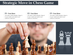 Strategic Move In Chess Game Ppt PowerPoint Presentation File Background Designs PDF