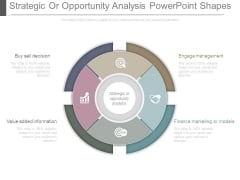 Strategic Or Opportunity Analysis Powerpoint Shapes