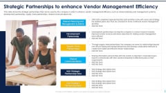 Strategic Partnerships To Enhance Vendor Management Efficiency Structure PDF