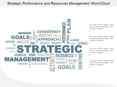 Strategic Performance And Resources Management Word Cloud Ppt Powerpoint Presentation Professional Slides