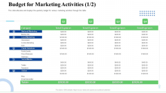 Strategic Plan For Business Expansion And Growth Budget For Marketing Activities Category Themes PDF