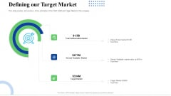 Strategic Plan For Business Expansion And Growth Defining Our Target Market Summary PDF