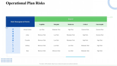 Strategic Plan For Business Expansion And Growth Operational Plan Risks Microsoft PDF