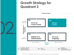 Strategic Plan For Companys Development Growth Strategy For Quadrant Value Ppt PowerPoint Presentation Diagram Ppt