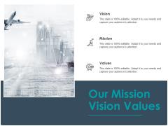 Strategic Plan For Companys Development Our Mission Vision Values Ppt PowerPoint Presentation Slides Gridlines
