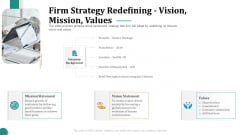 Strategic Plan For Corporate Recovery Firm Strategy Redefining Vision Mission Values Topics PDF