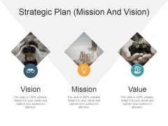 Strategic Plan Mission And Vision Ppt PowerPoint Presentation Infographics Grid