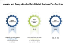 Strategic Plan Retail Store Awards And Recognition For Retail Outlet Business Plan Services Infographics PDF
