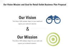 Strategic Plan Retail Store Our Vision Mission And Goal For Retail Outlet Business Plan Proposal Summary PDF