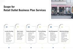 Strategic Plan Retail Store Scope For Retail Outlet Business Plan Services Ppt Ideas Portfolio PDF