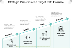 Strategic Plan Situationtarget Path Evaluate Ppt PowerPoint Presentation Show Design Ideas
