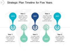 Strategic Plan Timeline For Five Years Ppt PowerPoint Presentation Slides Template