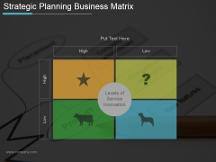 Strategic Planning Business Matrix Ppt PowerPoint Presentation Images
