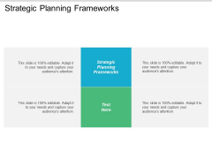 Strategic Planning Frameworks Ppt PowerPoint Presentation Layouts Graphics Download Cpb