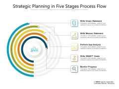 Strategic Planning In Five Stages Process Flow Ppt PowerPoint Presentation Gallery Rules PDF