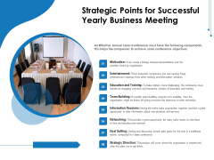 Strategic Points For Successful Yearly Business Meeting Ppt PowerPoint Presentation Gallery Deck PDF