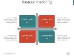 Strategic Positioning Ppt PowerPoint Presentation Designs