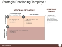 Strategic Positioning Template 1 Ppt PowerPoint Presentation Graphics