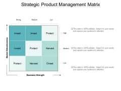 Strategic Product Management Matrix Ppt PowerPoint Presentation File Themes