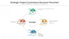 Strategic Project Governance Structure Flowchart Ppt PowerPoint Presentation Gallery Elements PDF