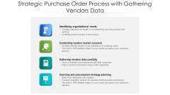 Strategic Purchase Order Process With Gathering Vendors Data Ppt PowerPoint Presentation Styles Portfolio PDF