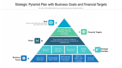 Strategic Pyramid Plan With Business Goals And Financial Targets Ppt Summary Example PDF
