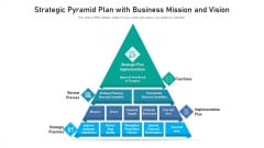 Strategic Pyramid Plan With Business Mission And Vision Ppt Deck PDF