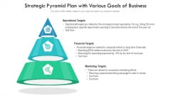 Strategic Pyramid Plan With Various Goals Of Business Ppt Inspiration Template PDF