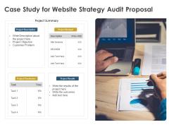 Strategic SEO Audit Case Study For Website Strategy Audit Proposal Pictures PDF
