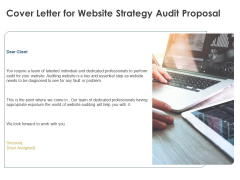 Strategic SEO Audit Cover Letter For Website Strategy Audit Proposal Topics PDF