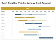 Strategic SEO Audit Gantt Chart For Website Strategy Audit Proposal Sample PDF