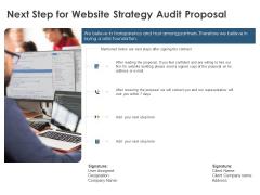 Strategic SEO Audit Next Step For Website Strategy Audit Proposal Elements PDF