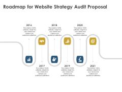 Strategic SEO Audit Roadmap For Website Strategy Audit Proposal Background PDF