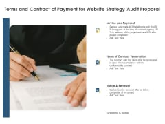 Strategic SEO Audit Terms And Contract Of Payment For Website Strategy Audit Proposal Download PDF