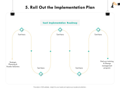 Strategic Sourcing For Better Procurement Value 5 Roll Out The Implementation Plan Ppt Infographic Template Inspiration PDF