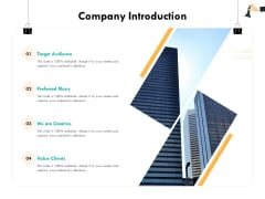 Strategic Sourcing For Better Procurement Value Company Introduction Ppt Slides Visual Aids PDF
