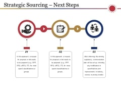 Strategic Sourcing Next Steps Ppt PowerPoint Presentation Model Graphic Images