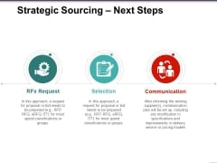 Strategic Sourcing Next Steps Ppt PowerPoint Presentation Slides Templates